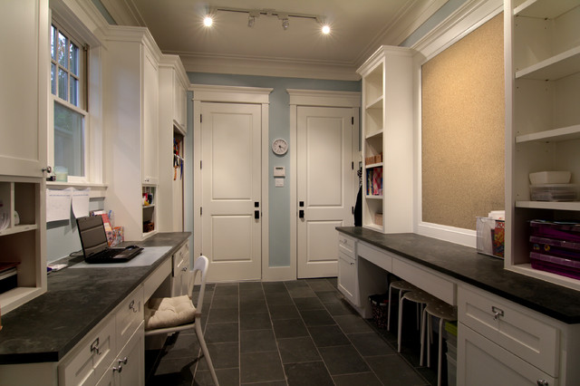 A Mud Room Fit For A Whole Family Traditional Laundry