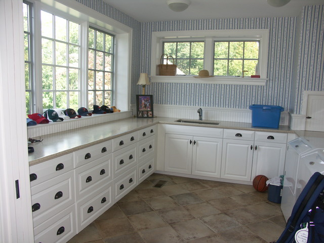 additions to an existing historic home traditional laundry room