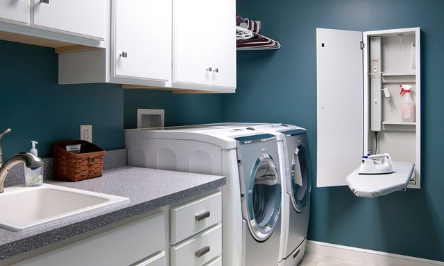 Amish Custom Cabinetry traditional-laundry-room