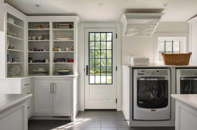 Antique Home Renovation traditional-laundry-room