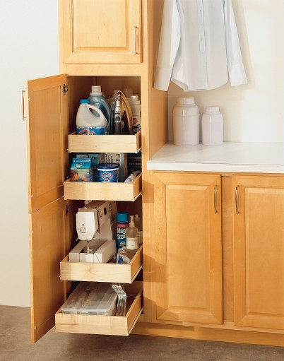 Aristokraft Utility Cabinet with Roll Trays - Utility Room ...