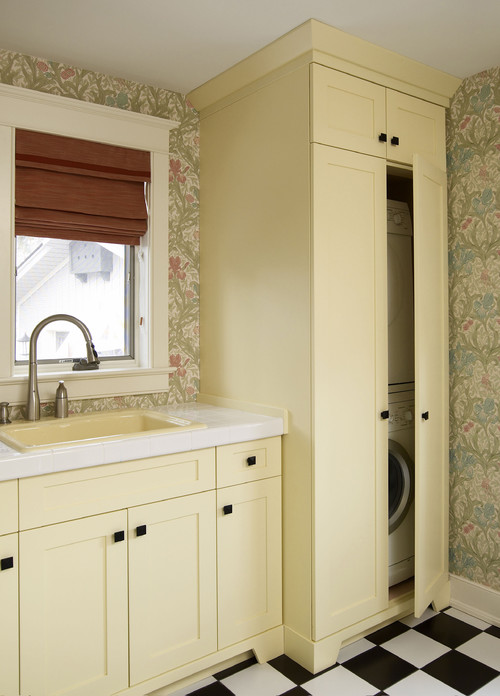 Arts and Crafts Laundry Room eclectic laundry room