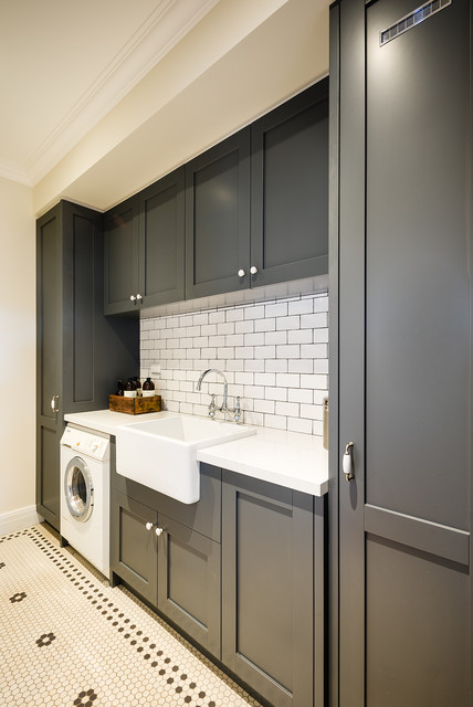 Ashburton - Hampton Style Overlay Laundry - Traditional - Laundry Room - melbourne - by Steding ...