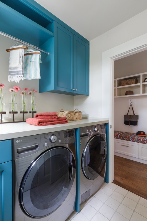 Pets Antiques And Even A Slide 10 Laundry Rooms That Redefine Washday