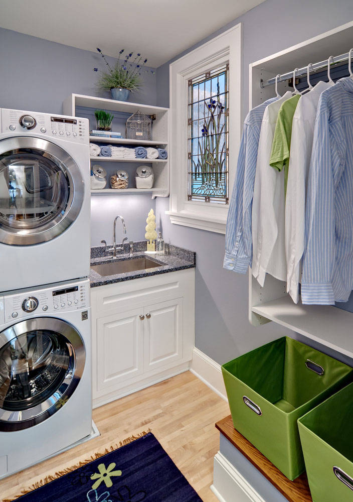 75 Beautiful Stacked Washer Dryer Laundry Room Pictures Ideas Houzz