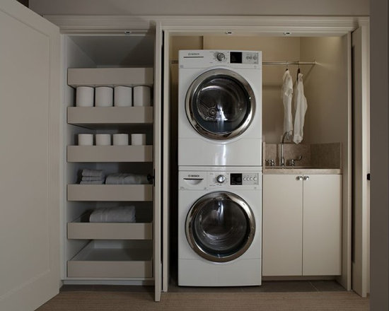 Wicker Pull Out Drawers Laundry Room Design Ideas ...
