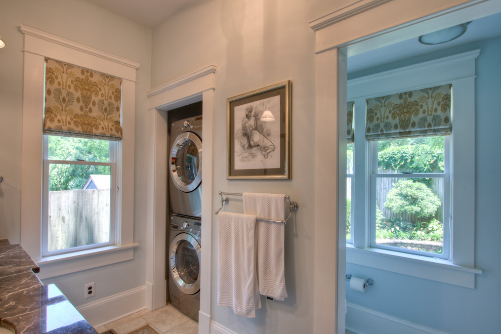 Inspiration for a craftsman laundry room remodel in Atlanta