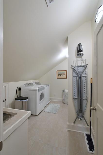 Attic Master Renovation traditional-laundry-room