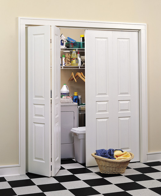 Avalon Bi Fold Closet Doors Traditional Laundry Room