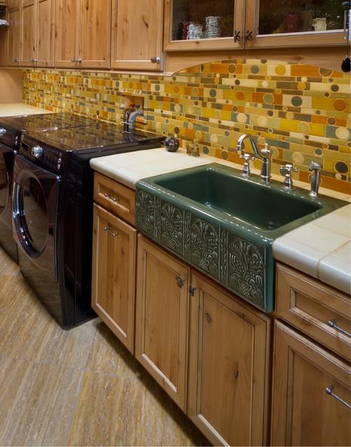 backsplash eclectic laundry room phoenix by