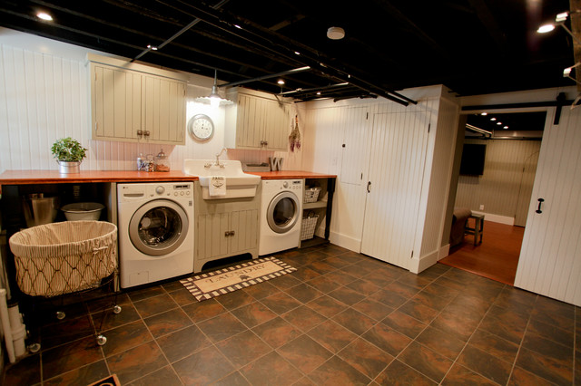 Basement Laundry Remodel Traditional Room