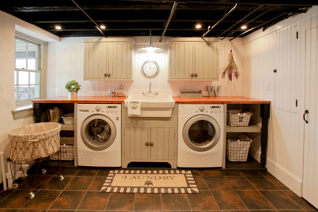 Basement Laundry Remodel Traditional Utility Room