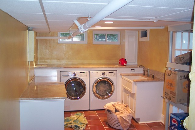 Basement Laundry Room traditional-laundry-room