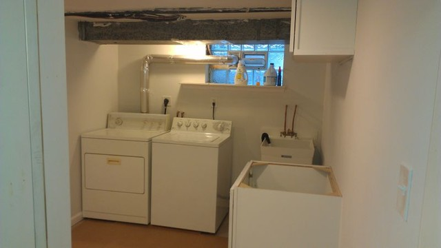 basement remodel traditional-laundry-room