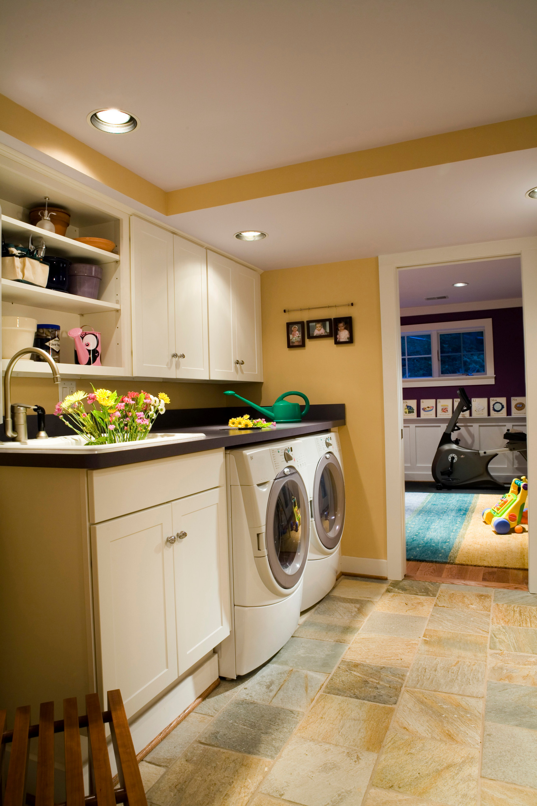 Basement Renovation Bedroom Playroom Bathroom Laundry Family Room Office Contemporary Laundry Room Dc Metro By Fisher Group Llc Houzz