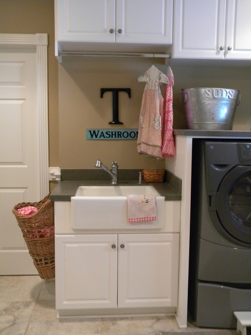 Baskets for the Laundry Room eclectic laundry room