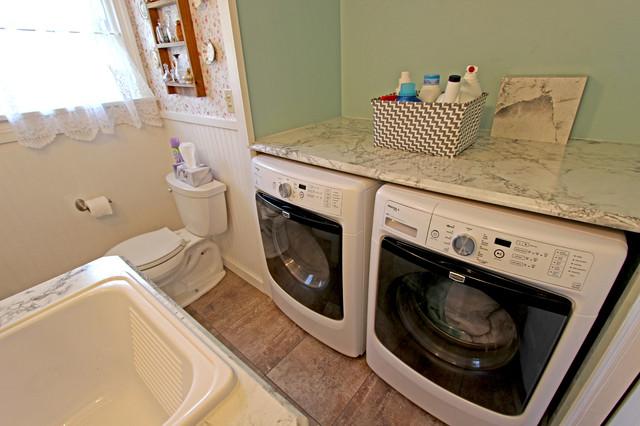Bathroom Laundry Room Combo Medina Oh 1 Farmhouse Laundry