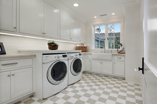 Bayshore drive traditional laundry room