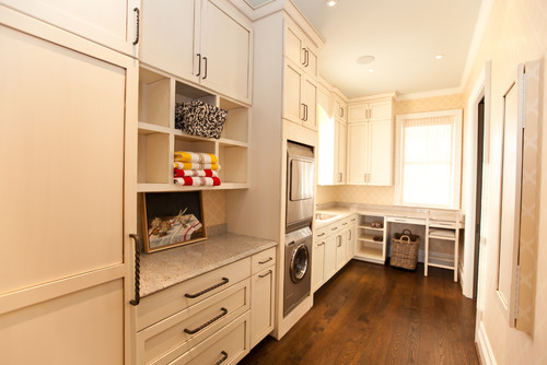 Beach Style Laundry Room by Charlotte General Contractors Andrew Roby General Contractors