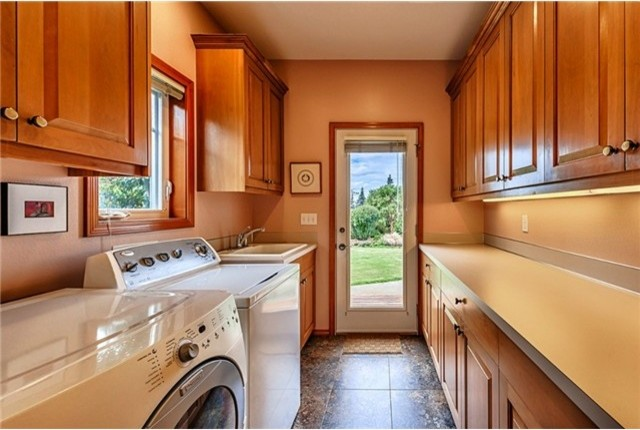 Beautiful Privacy in the PNW traditional-laundry-room