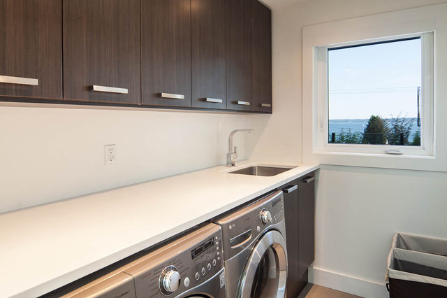 Benzs Project In West Vancouver Modern Laundry Room