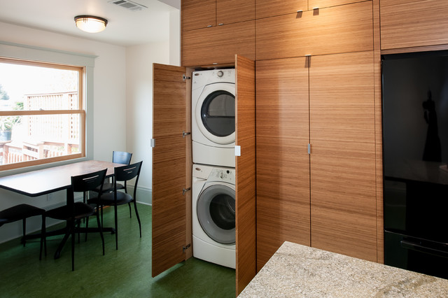 Berkeley Kitchen - Contemporary - Laundry Room - San Francisco - by Cugini Cabinets & Design