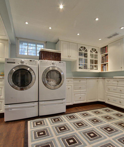 laundry baskets for open shelving in my newly renovated laundry room