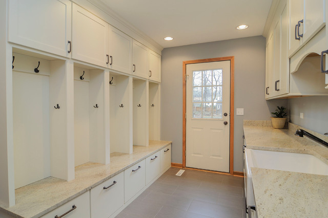 Brad amp Leas Luxury Mudroom Transitional Laundry Room