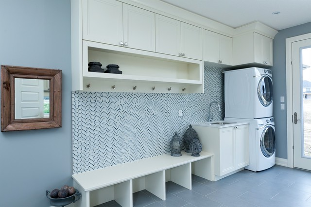 Bridlewood Model Home contemporary-laundry-room