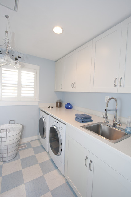Bright and airy whole house remodel contemporary laundry room