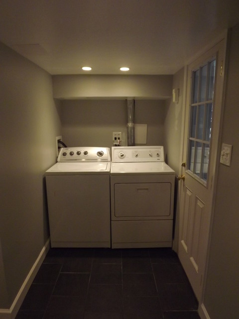 Basement Laundry Room Interior Remodel Branch NW Washington DC Basement Remodel Traditional Laundry Room