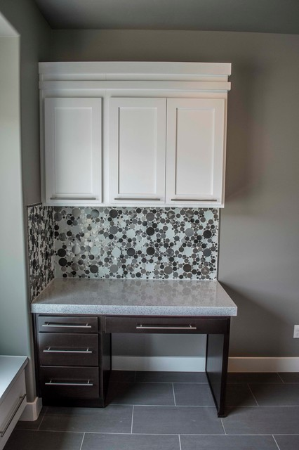 Built-in Desk with Cabinets Upgrade - Traditional - Laundry Room - Other - by Symphony Homes