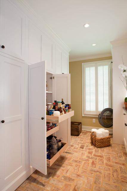 Built In Storage Traditional Laundry Room Atlanta