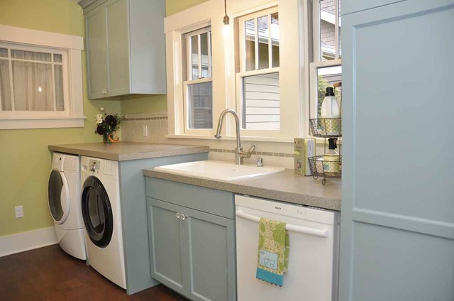 Bungalow mudroom laundry room - Craftsman - Laundry Room - Seattle - by MRF Construction, Inc.