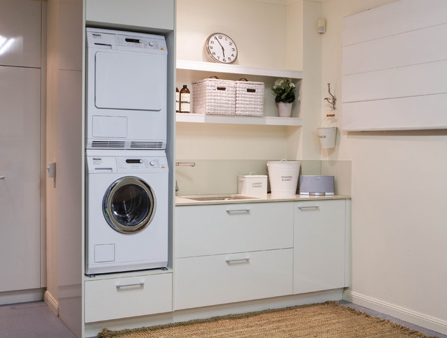 Burleigh heads laundry traditional laundry room other metro by darren james interiors - Washing machine for small spaces gallery ...