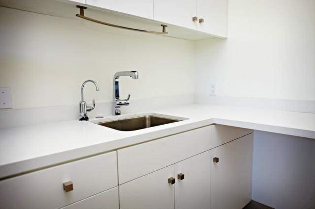 Caesarstone Pure White Laundry Room Countertop