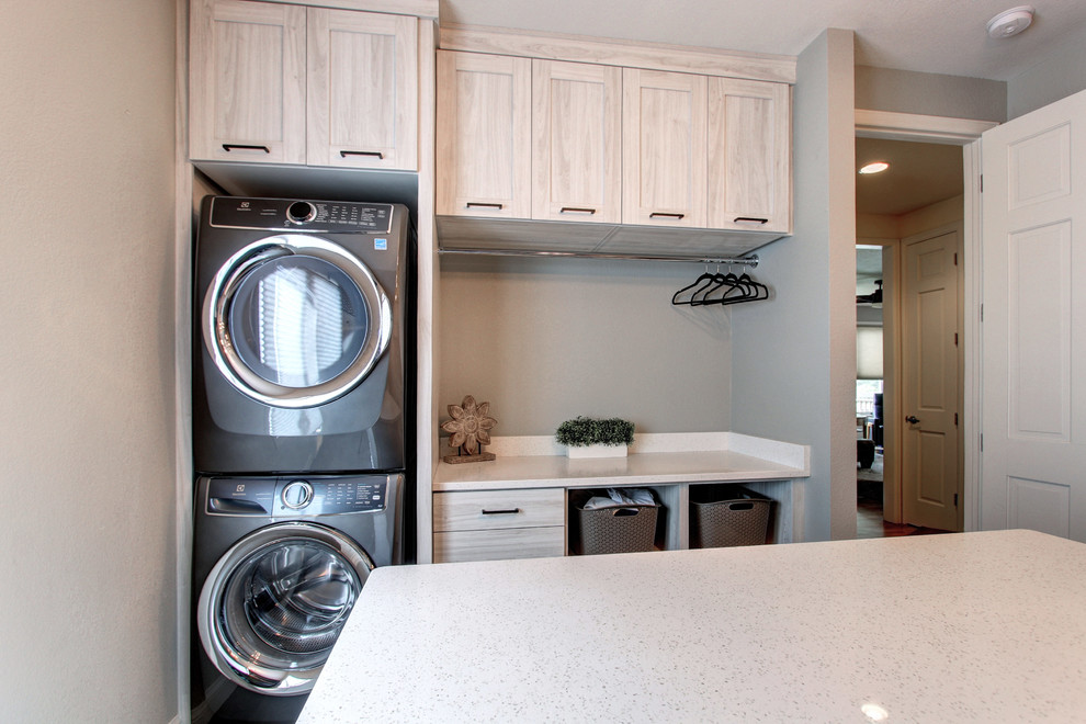 Example of a minimalist laundry room design in Denver