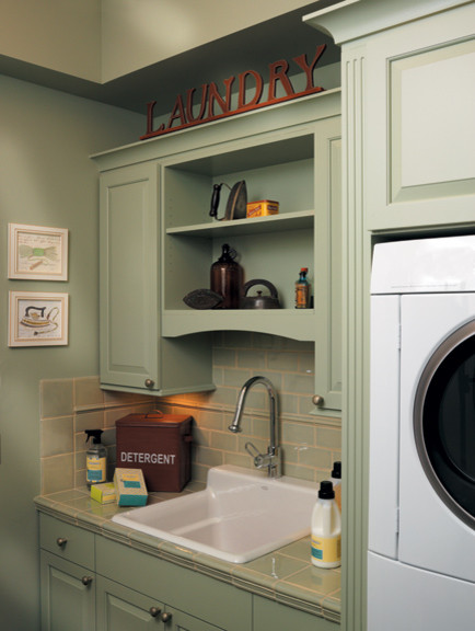 Canyon Creek Millennia - Stratford in Maple w/custom color - frameless traditional-laundry-room