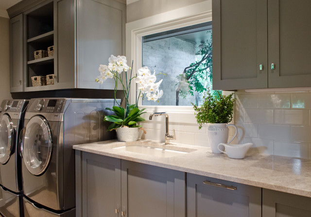 castle hills kitchen breakfast pantry and laundry in san antonio texas transitional