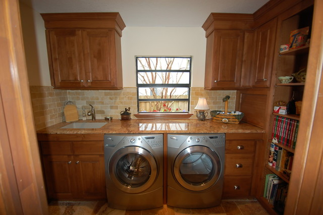 Casual Kitchen with Country Accents - traditional - laundry room ...