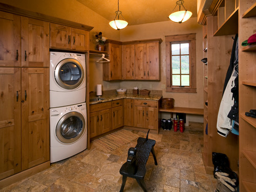Laundry room ideas laundry room eclectic with tile floor mud room - Alfa Img Showing Gt Rustic Laundry Room Storage