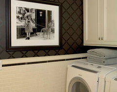 Charmean Neithart Interiors, LLC. traditional laundry room