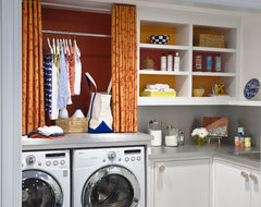Cheery Laundry Room transitional-laundry-room