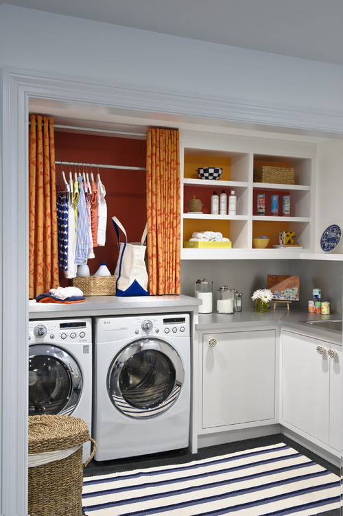 Cheery Laundry Room eclectic laundry room