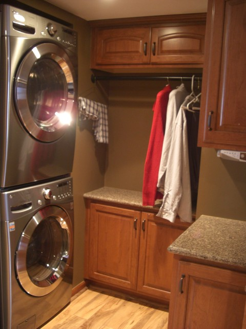 Cherry Loft Traditional Laundry Room Chicago By West Side Lumber Ace Kitchen Bath