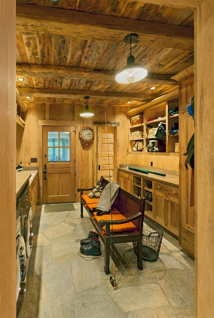 chestnut hall - rustic - laundry room - other