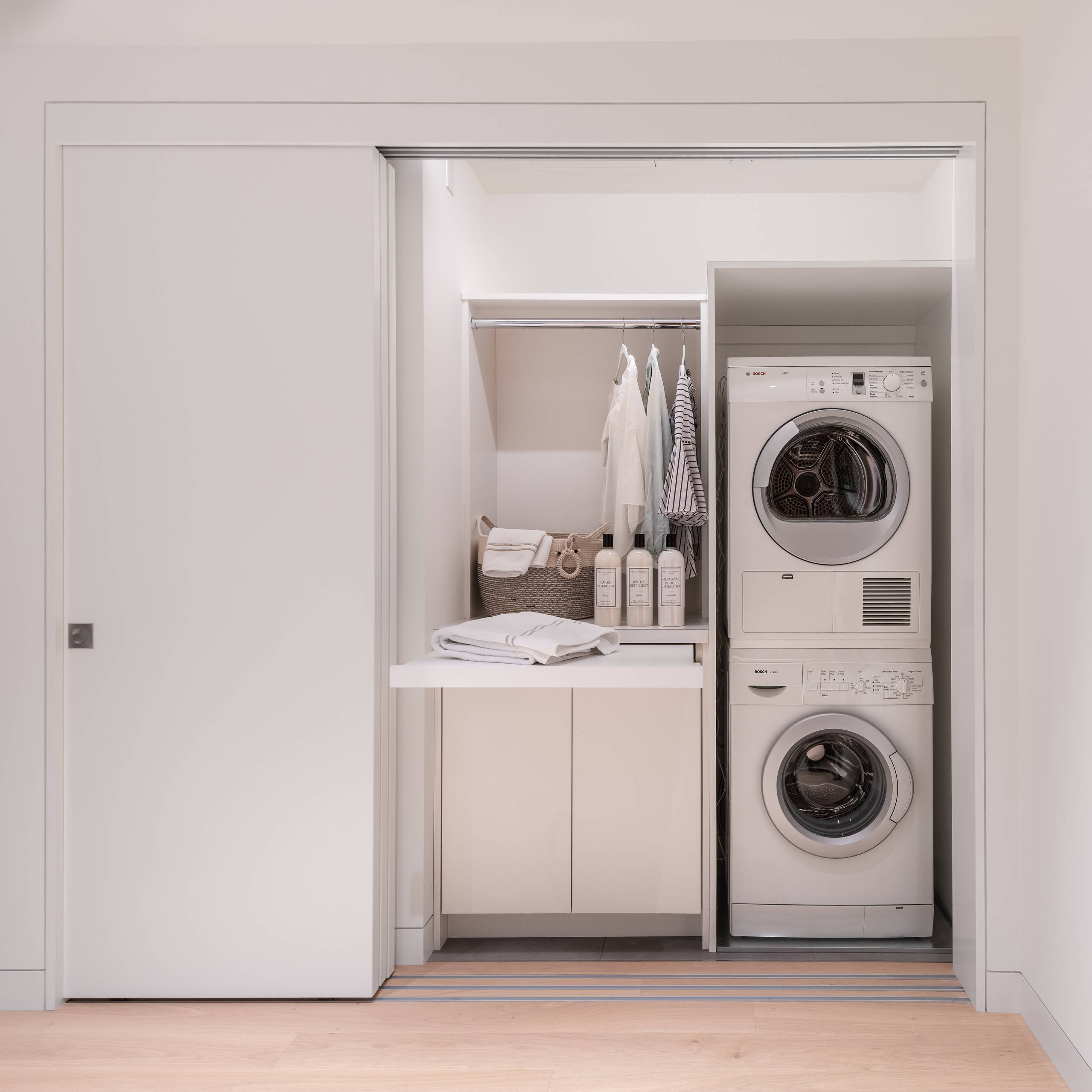 75 Beautiful Small Laundry Room With A Stacked Washer Dryer Pictures Ideas February 2021 Houzz