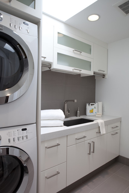 Classic Contemporary Residence contemporary-laundry-room
