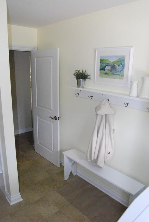 Entryway Remodel Diy Wall Coat Rack Shelf Between3sisters