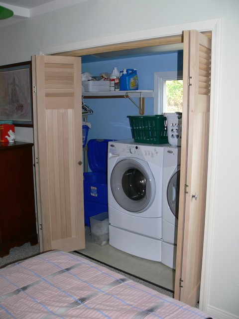 Closet Doors Eclectic Laundry Room Philadelphia By